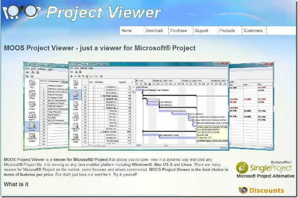 Microsoft office project 2010 viewer.